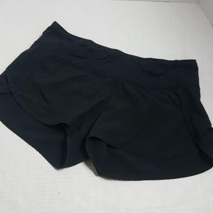 Lululemon black speed shorts 4 way stretch